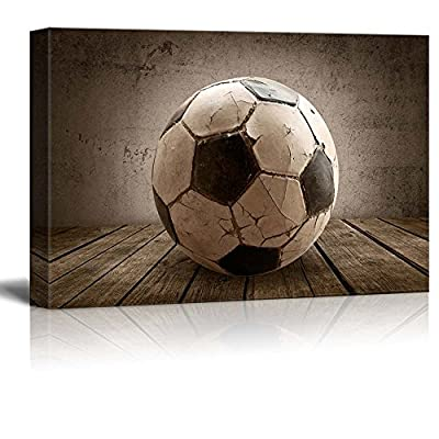 Goal! Soccer Rustic Rectangular Sport Panel - Futbol - Celebrating American Sports Traditions - Canvas Art Home Art - 32x48 inches