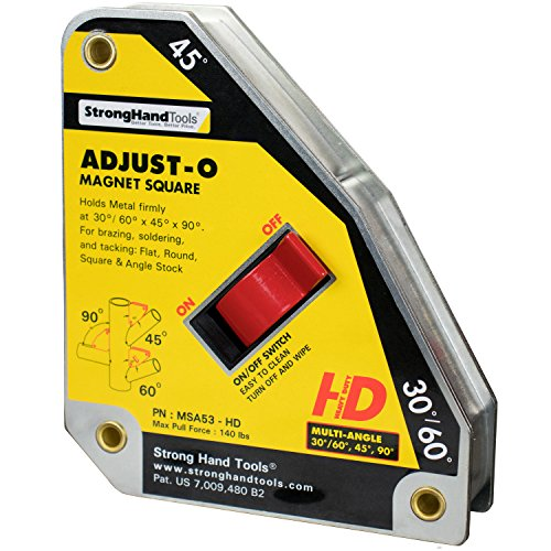 Strong Hand MSA53- HD Adjust-O Magnet Squares At Multi Angles 30° 45°, 60° And 90°. Capacity 140 LBS (65 kg.)