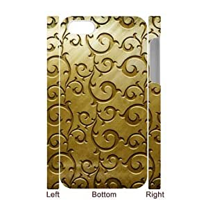 Gold Pattern 3D-Printed ZLB566978 Custom 3D Phone Case for Iphone 4,4S