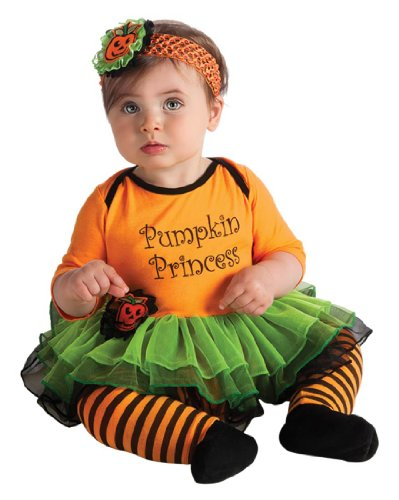 Rubie's Costume My First Halloween Pumpkin Princess Tutu And Onesie, Orange, (0-6 Months) ()