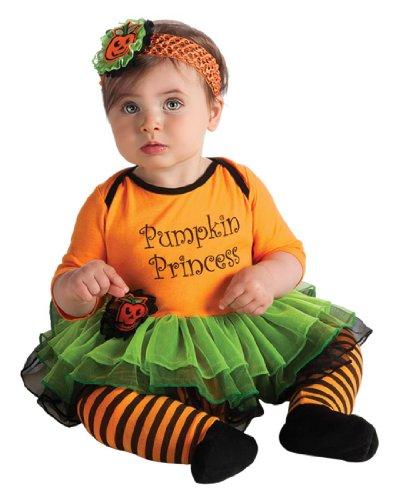 [Rubie's Costume My First Halloween Pumpkin Princess Tutu And Onesie, Orange, (0-6 Months)] (Halloween Costumes For Girls 22)