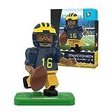 NCAA Michigan Wolverines Denard Robinson Gen 2 Player Mini Figure, Small, Black