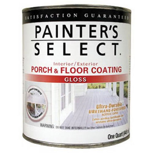 True Value UGF4-QT Painter's Select Tile Red Interior/Exterior Urethane Fortified Porch and Floor Coating, 1-Quart