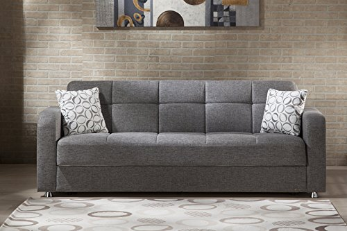 ISTIKBAL Multifunctional Furniture Living Room VISION Collection Grey SOFA SLEEPER