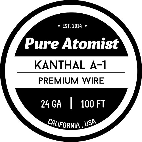 Kanthal 24 Gauge AWG A1 alambre 100 pies Rollo 0.51 mm 2.01 Ohms / Resistencia pies