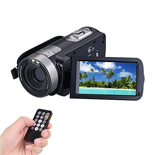 COMI Camcorder Full HD 1920x1080p 24.0 Megapixels Camera 3.0 Inch LCD 16x Digital Zoom 270 Degree Rotatable Screen Remoter