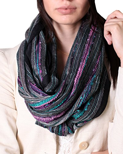 Women's Festival Bliss Infinity Scarf, Multicolor Boho Chic Shawl (Bejeweled - Unique For Women Scarves