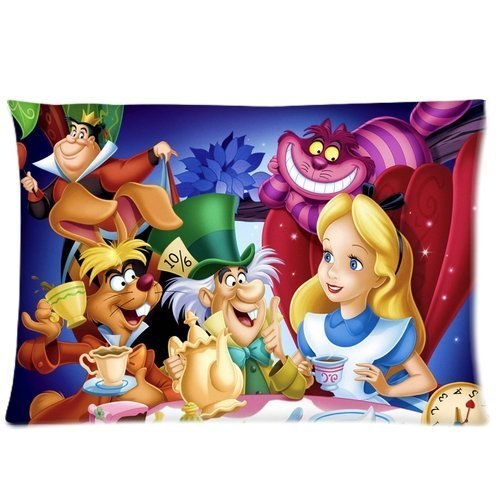 [Alice's in Wonderland Characters Pillowcases 20x30 inches Two Sides Print CMF024] (Alice In Wonderland Costume Ideas Diy)