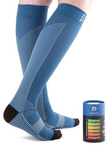 15 Mmhg Travel Socks (PeakForm Graduated Compression Socks, XL, 15-20 mmHg - Best Performance Stockings For Running, Recovery, Travel, Nurse - Men,)