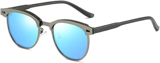 Inlefen Polarizado Gafas de sol Hombres Vendimia Polarizado Gafas de sol Marco de metal UV400