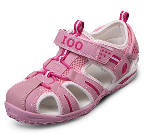 IOO Summer Beach Outdoor Closed-Toe Sandals for Boys and Girls 8 M Toddler Pink New (8 Kids Footwear Sandals)