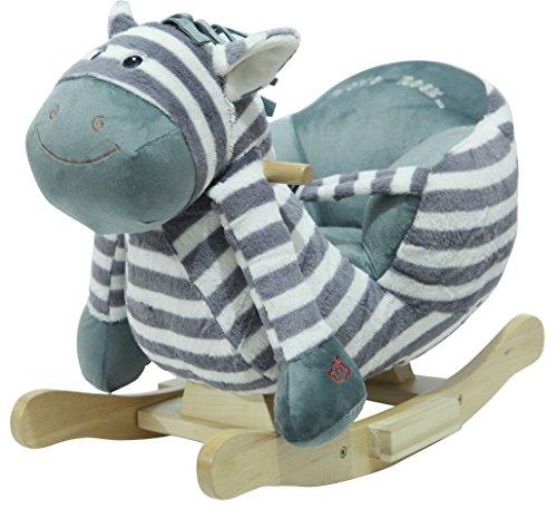 "Sweety Toys 4812 cheval a bascule ZEBRE ""Ben the Zebra"" aver de la musique lullaby"