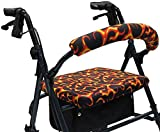Crutcheze Flames Rollator Walker Seat and Backrest Covers Designer Fashion Accessories Made in USA