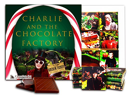 DA CHOCOLATE Candy Souvenir CHARLIE AND THE CHOCOLATE FACTORY Chocolate Set 5x5 1 box (Flag)