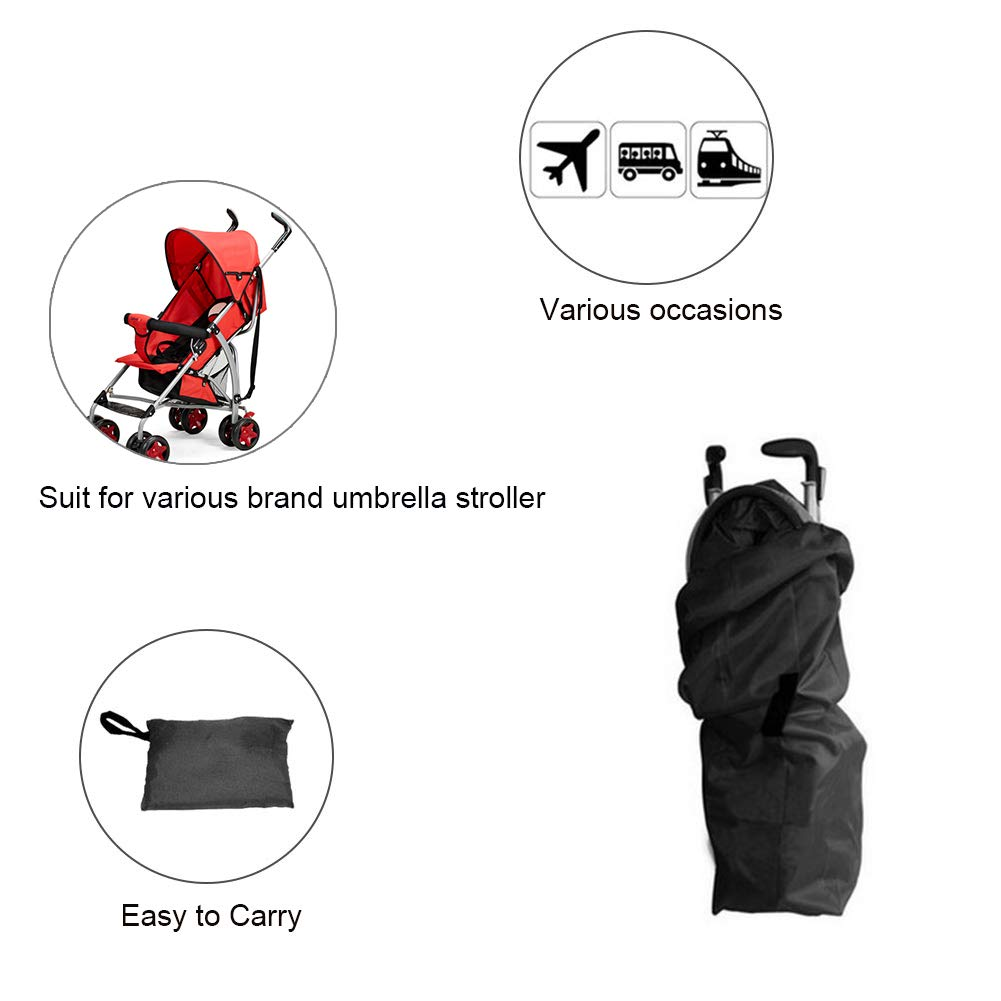 B Waterproof Gate Check Bag Organizer Storage for Infant Baby Child Umbrella Strollers Large Yuccer Stroller Travel Bag for Airplane