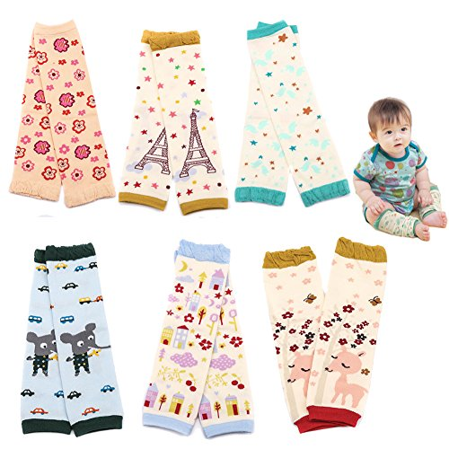 Sept.Filles Baby and Toddler Leg Warmers 3.15'' x 11.8'' Packs of 6(D)