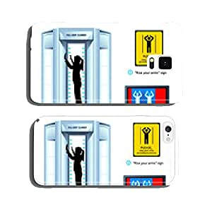 Airport full-body scanner sign and monitor view cell phone cover case Samsung S6