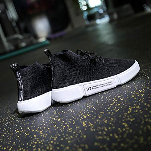 Sneakers Shoes Toe Shoes Red Women up Lace New Breathable Running Mesh Tefamore Round Casual cqUg0x1Zqw