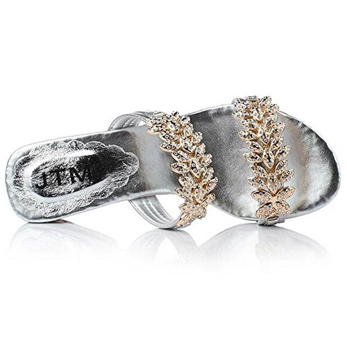 peep Escarpins silver femme toe SUNAVY 7vqP5wxff