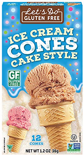 Sugar Sugar Cholesterol Free Free - Let's Do Gluten Free Ice Cream Cones, 12-Count Cones (Pack of 12)