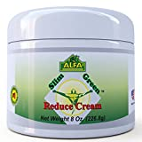 Premium Slim Green Reduce Cream By Alfa Vitamins - Weight Loss & Fat Burning Support For Men & Women - Does Not Stain Or Grease - Organic Natural Ingredients - Made In USA - 8 oz