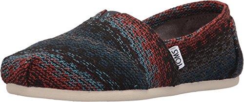 Classic Tall Wool Stripe - TOMS Classics Rust Multi Stripe Woven Wool 10008947 Womens 11