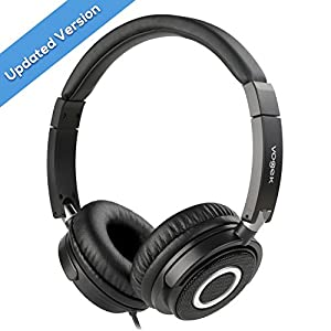 Vogek On Ear Headphones Lightweight and Foldable Bass Headphones with Volume Control and Microphone