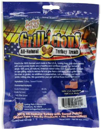 Loving Pets Grill-icious Dog Treats, Turkey, 4-Ounce by Loving Pets (Image #2)