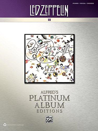 Led Zeppelin Iii Platinum Album Edition Pianovocalchords