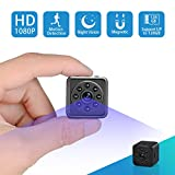 Spy Hidden Camera-1080P Portable Mini Security Camera Nanny Cam Night Vision/Motion Detection /420mAh Battery Home Office,Indoor/Outdoor Use-No WiFi Function
