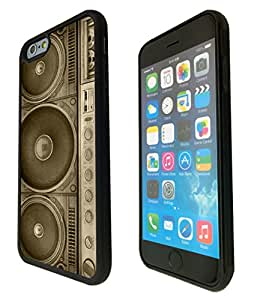 """iphone 6 4.7"""" Old School boombox Dj Music Funky Design Fashion Trend SILICONE GEL RUBBER CASE COVER -Rubber and Metal"""