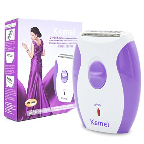 Woman Shaver, T-Antrix Electric Shaver, Rechargeable Portable Women's Razor Trimmer Remover Epilator Hair Removal Shaver for Face Leg Armpit Arm Bikini Line Body (Purple)