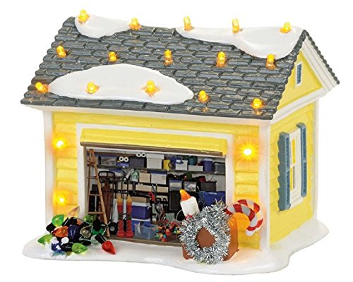 Department 56 Griswold Garage Village Building Multicolored Ceramic 4.92 in. x 4.92 in. x 5.02