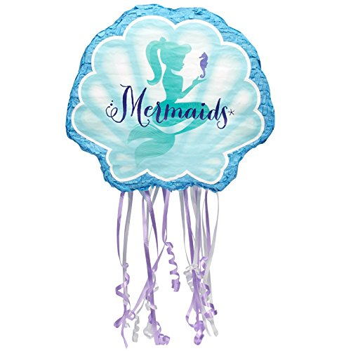 BirthdayExpress Mermaids Under The Sea Party Supplies - Pull String Pinata