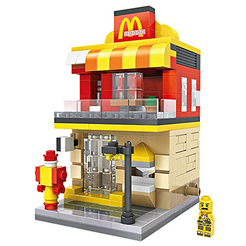 LOZ Building Block McDonald's Mini Handmade Kit,Construction Toy Birthday Gift Kid Adult(McDonald's)