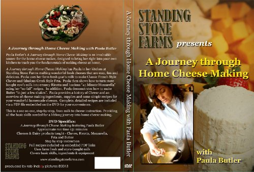 Learn to Make Cheese at Home, 2 hour Video - A Journey Through Home Cheese Making DVD with Paula Butler