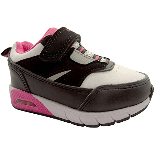 (Danskin Now Toddler Girl's Retro Running Shoe Black White Pink)