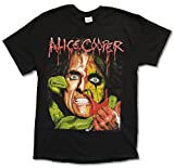 Adult Alice Cooper 'Raise The Dead Tour' Black Tee Shirt (Small)