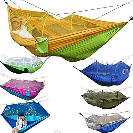Outdoor Mosquito Net Parachute Hammock Camping Hanging Sleeping Bed Swing