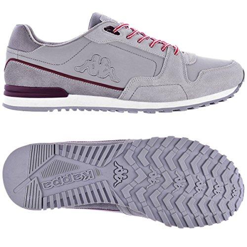 Sneakers - Vace GREY-RED BURGUNDY