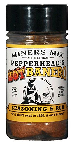 Pepperhead's HotBanero Seasoning and Rub. A Hot Southwestern Flavor with Habanero, Bhut Jolokia or Ghost Pepper, Jalapeno, Chipotle and Other Spices. 2017 Scovie Awards First Place 3 oz ()