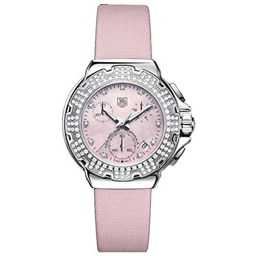 Tag Heuer Reloj Análogo clásico para Mujer de Cuarzo con Correa en Cuero CAC1311.FC6220: Amazon.es: Relojes