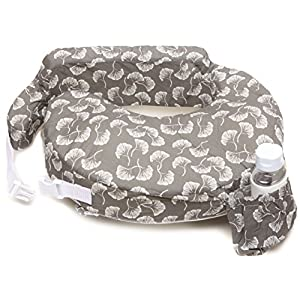 My Brest Friend My Brest Friend Nursing Pillow, Flowing Fans, Grey, White