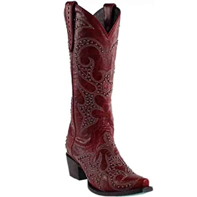 Women's Lovesick Stud Vintage Cowgirl Boot Snip Toe - Lb0199e