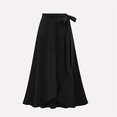 Availcx-Sexy Long Skirt Falda Larga con Volantes de Gasa para ...