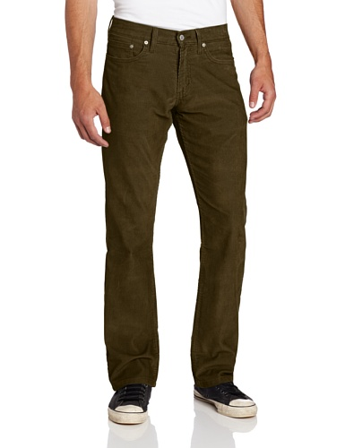 Cords Levis - Levi's Mens 514 Straight Corduroy Pant, Ivy Green, 29x30