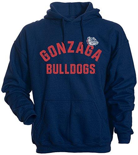 Camp David NCAA Gonzaga Bulldogs Men's Basic Fleece Hoodie, Small, Navy