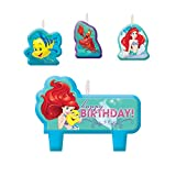 Disney Little Mermaid Birthday Candles , Set of 4