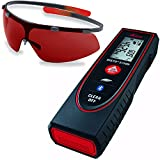 Leica DISTO E7100i 200ft Laser Distance Measure with Bluetooth, Black/Red (Laser + Glasses)
