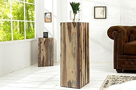 DuNord Design Catan - Columna decorativa (75 cm, madera maciza de efecto invernadero), diseño vintage: Amazon.es: Hogar
